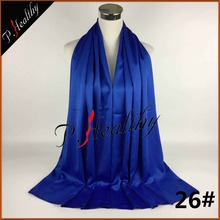 Women Lady long Royal blue soft  Silk  Scarf Wrap Shawl Scarves Stole Silk Hijabs 27colors Available  can34