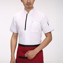 Hot Sale Chef Jacket Food Service Hotel Uniform Restaurant Waiter Waitress Workwear Cooks Clothing White/Red/Black