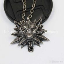 55cm 99% like original the Witcher pendant / wizard Witcher 3 medallion pendant necklace / the wild hunt 3 figure game+ wo