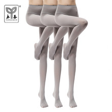 YONGCHUN 3 pairs Stockings spring and autumn female pantyhose velvet 80d unifilar basic pantyhose(China)