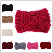 Women Lady Crochet Turban Knitted Head Wrap Hairband Winter Ear Warmer Headband Hair Band Girls Hair Accessories WH176(China)