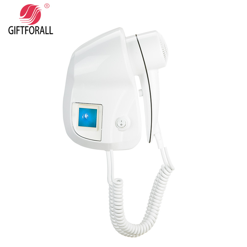 GIFTFORALL Hairdryer Professional Styling Powerful Wall Mounted Portable hot and cold windHotel Bathroom Home Hair Dryer D139E<br>