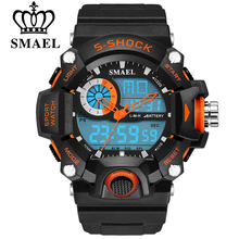 SMAEL Watches Men Military Army Mens Watch Reloj Led Digital Sports Wristwatch Male Gift Analog S Shock Automatic Watch Male