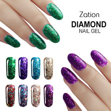 Buy Zation Shimmer Gel Polish Diamond Shiny Nail Polish Sequin Nail Gel Shine Nail Art Design Manicure Bling Gel Polish Enamel Paint for $1.15 in AliExpress store