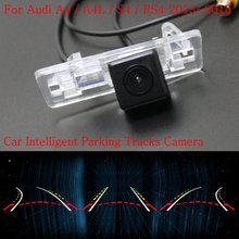 Car Intelligent Parking Tracks Camera FOR Audi A4 A4L S4 RS4 2013~2015 / Back up Reverse Camera / Rear View Camera / HD CCD