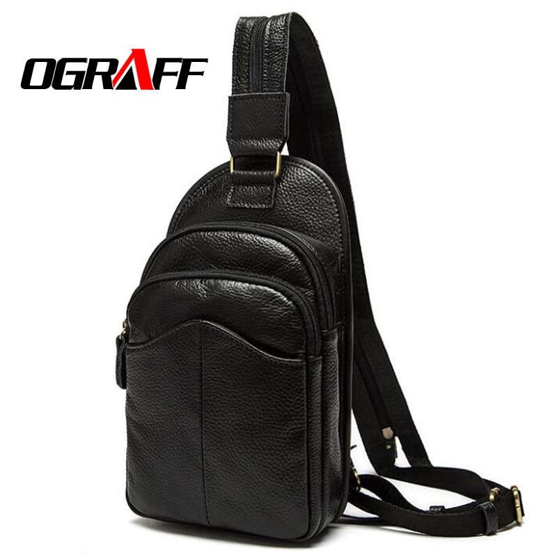 OGRAFF Men backpack Large Capacity luggage travel bag genuine leather backpack Vintage high quality dollar price famous brand<br><br>Aliexpress