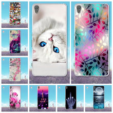 Capa For Sony Xperia XA XA1 Case Soft TPU Silicone Back Cover 3D Cute Cat Skin For Coque Sony XA / XA1 / XA1 Ultra Phone Cases(China)