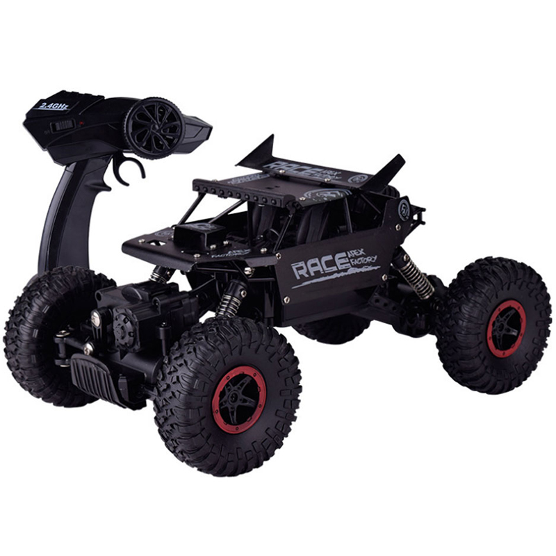 1:16 4WD Black Alloy High speed RC Cars 2.4G Radio Control RC Cars Kids Toys Buggy High speed Trucks Off-Road Toys Children