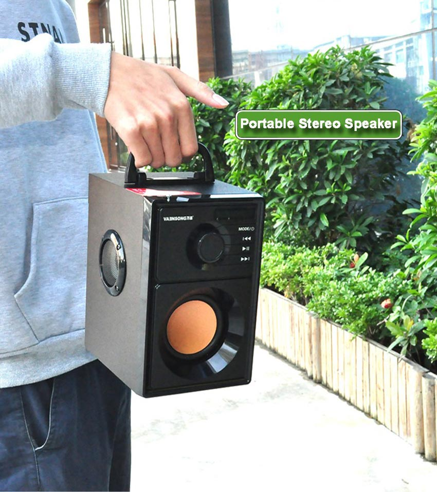 Stereo Wooden Bluetooth Speaker 18
