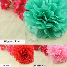 15cm=6 inch Tissue Paper Flowers pom poms balls lanterns  Party Decor Craft For Wedding Decoration multi color option  wholesale