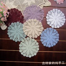 2015 new arrival 12 pic/lot crochet  lace felt as innovative item for DIY kitchen accessories for home decor lace doilies mats