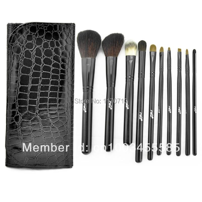 FREE SHIPPING! Best Quality Kolinsky Hair Professional Makeup Brush Set 10PCS/Set Including a Leather Bag!<br>