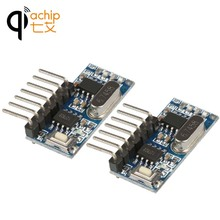 2PCS 433mhz RF Receiver Learning Code Decoder Module 433 mhz Wireless 4 Channel output For Remote Controls 1527 2262 encoding(China)