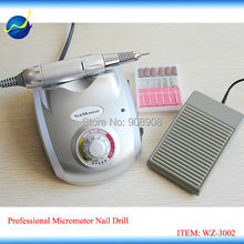 Electric Nail Art Drill Polishing Polisher Machine HG-208 Micromotor for Spas, Beauty Parlors, Personal Use Fingernail & Toenail(China)