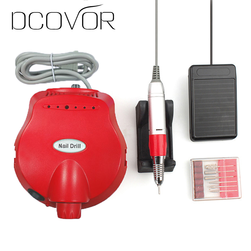 35000 RPM Professional Electric Nail Drill File Manicure Manicure Kit Black Colors Nail Art Tools for Nail Gel Nail Drill<br>