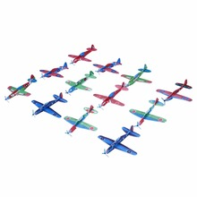 12Pcs DIY Hand Throw Flying Glider Planes Foam Aeroplane Model Party Bag Fillers Kids Toys Children Game(China)