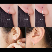 Jewatchyer Small Endless Hoop Lip Nose Ear Studs For Women