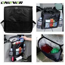 Onever Universal Car Seat Back Organizer Insulation Bag Auto Seat Back Warmer/Cooler Organizer Bag with Tissue Box Drinks Holder