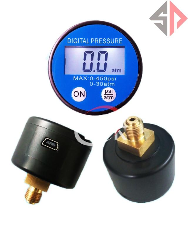 450psi Battery RS232 USB Digital Pressure Gauge Manometer G1/8 thread <br><br>Aliexpress