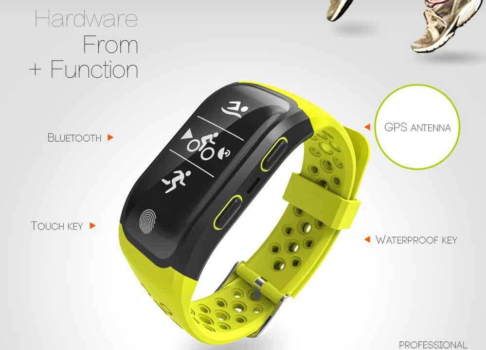 LEMDIOE Heart Rate Smart Wristband GPS Track Record Smart Band 2 Sleep Pedometer Bracelet Fitness Tracker Smart Watch Relogio 3