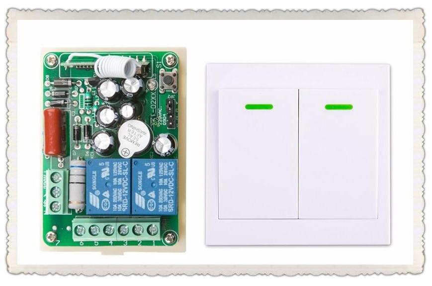 Household AC 220 V 2 CH Wireless Remote Control Switch 1 receiver + 1 transmitter wireless wall switch<br><br>Aliexpress