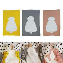Cute Baby Blanket Cartoon Rabbit Ears Soft Warm Swaddle Kids Bath Towel Infant Newborn Cotton Knitted Bedding Blanket