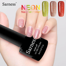 sarness 8ml Professional Colorful UV Neon Gel Varnish Soak Off Foil Adhesive Nail Art Manicure Set Color Gel Nail Polish