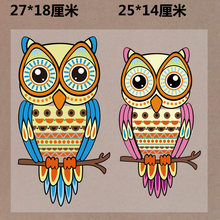 New 10PCS/1Lot Heat Transfer Personality OWL   Iron On Patches  DIY Clothes T-shirt Brand  Logo Patch Applied