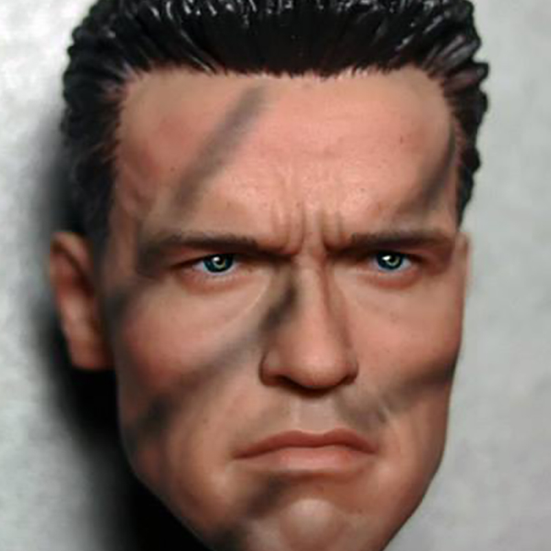 Camouflage version 1/6 Ladder Arnold Schwarzenegger Male Head Sculpt Model Terminator 2 For 12 Action Figures Toys Accessories<br>