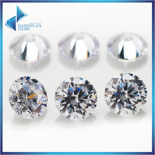 500pcs AAAAA CZ Stone 2.6~10mm White Round Cut High Quality Cubic Zirconia Synthetic Gems Stone(China)