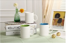 300ml large volume ceramic mug of bone china, mug with color, logo printing is available as promotional gifts