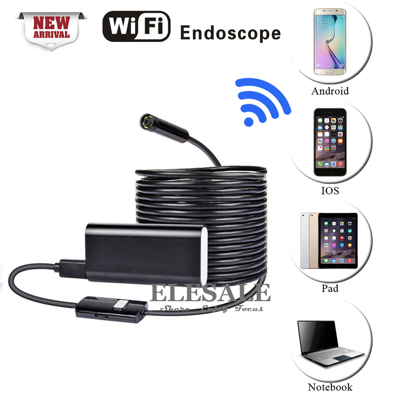 New Wireless Wifi Endoscope Android iOS Camera HD 720P Waterproof Inspection 8mm Borescope Camera Underwater 1/2/5M<br><br>Aliexpress