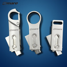 Smare Mini OTG USB 2.0 Flash Drive 8GB 32GB 16GB 64GB Pen Drive Smart Phone Memory Mini USB Stick Dual Double Plug