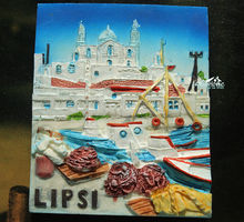 Lipsi Island, Greece Tourist Travel Souvenir 3D Resin Fridge Magnet Craft GIFT(China)