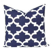 Navy Blue Geometry Best Gift Ideas Customised Gifts Vintage Home Decor Cushion Case For Car