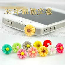 10pcs/Lot Sunflower Shaped Headphone Dust plug Universal 3.5mm Audio Hole Mobile Dust Plug for Samsung iPhone