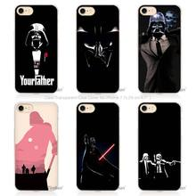 Hot sale Darth Vader Star Wars Hard Transparent Phone Case Cover Coque for Apple iPhone 4 4s 5 5s SE 5C 6 6s 7 Plus