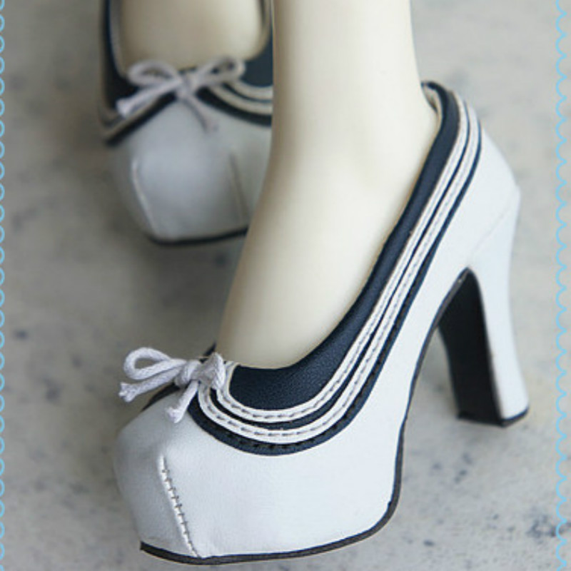 BJD doll shoes high heel shoes SD16 female high-heeled summer Navy square<br>