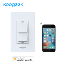 Koogeek Wi-Fi Smart Light Switch for Apple HomeKit with Siri Remote Control Two-way Single Pole Wall Switch on 2.4GHz Network
