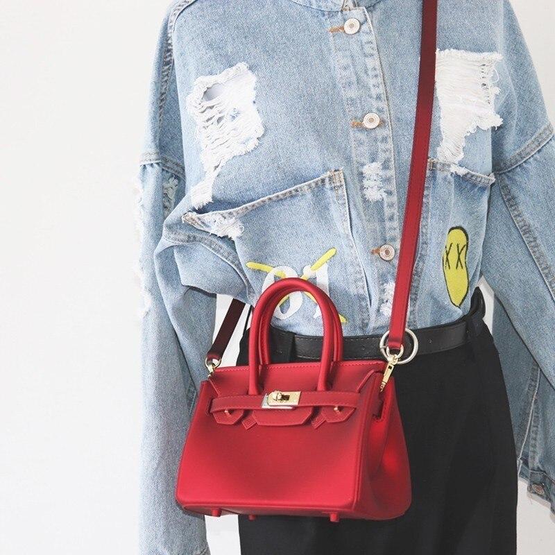 VALENMISA Women Famous Brands Small Mini Lock Jelly Messenger Bag Luxury Handbags Women Bags Designer Crossbody Bags For Women<br>