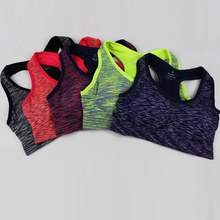 2017 NEW Outdoor Sports Women Padded Tank Top Athletic Vest Gym Yoga T-Shirt Fitness Bra Stretch Seamless Yoga Shirts Bras