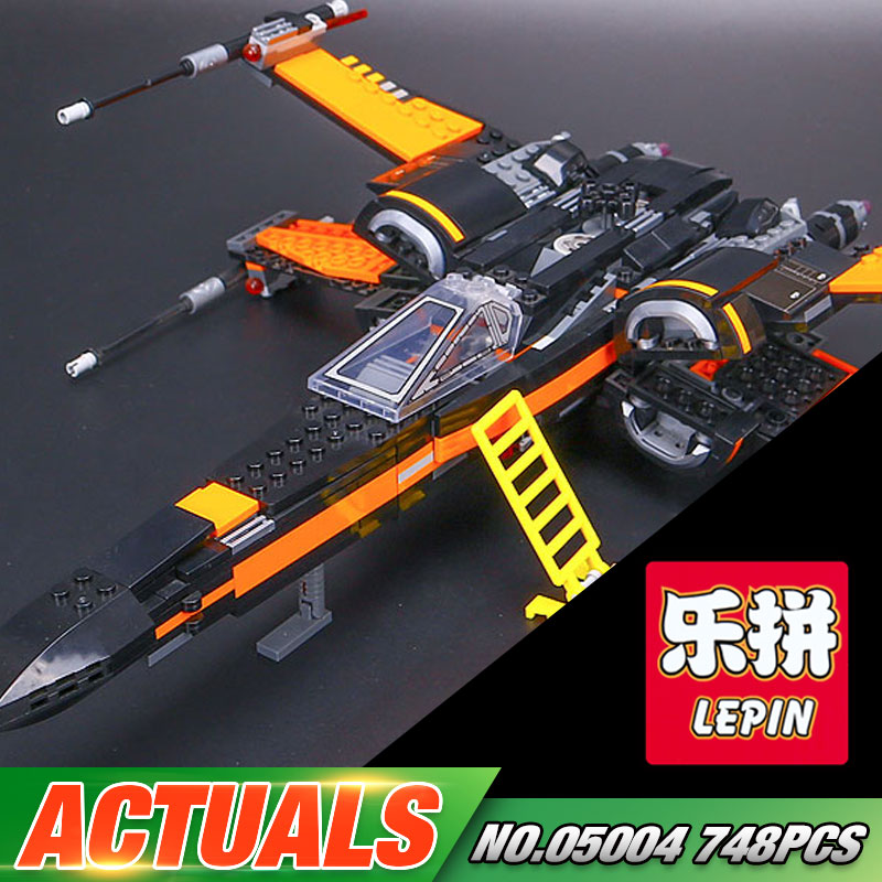 New LEPIN 05004 Star Series War The First Order X Model Wing Fighter 75102 Building Blocks Compatible with Educational Toy<br>