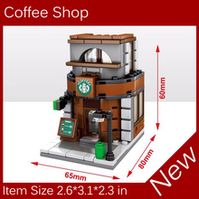 2017 New Mini Street View Building Block Coffee Shop Compatible With Legoes City Toys Free shipping gifi