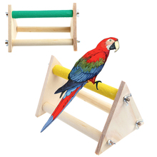 20cmx14cm Fun Pet Parrot Bird Perch Stand Play Toys Gym Wooden Activity Table Playstand Colorful Entertaining Parrot Toys(China)