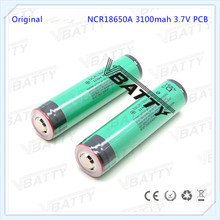 Authentic NCR18650A 3100mAh Li-ion 3.7V rechargeable battery 18650 protected battery with button top (1pc)(China)