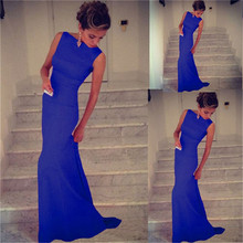Fashion Casual Woman Sleeveless Dresses Female Long Solid Formal Vestidos Feminino Cocktail Party Gown Prom Ball Dress NQ657321