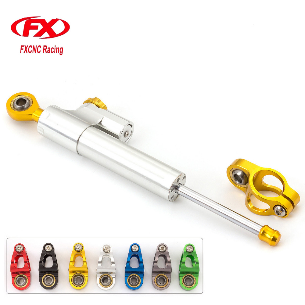 FXCNC Aluminum Adjustable Universal Motorcycle Steering Damper Stabilizer For Honda CB1000R 2008-2016 09 10 11 12 13 14 15 Mount<br>