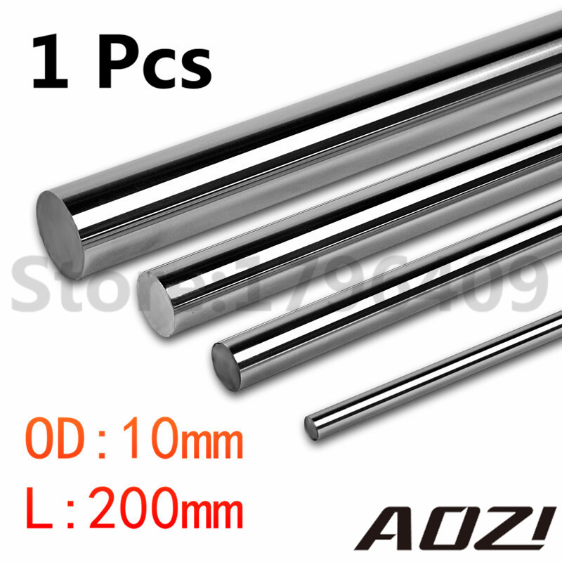 1 Pcs Cnc Linear Shaft Chrome OD 10mm L 200mm WCS Round Harden Steel Rod Bar Cylinder Linear Rail For CNC Parts<br><br>Aliexpress
