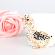 Duck Drake Goose Crown Lovely Cute Crystal Charm Purse Handbag Car Key Keyring Keychain Party Wedding Birthday Gift