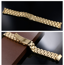 Fit mk Watch Band Gold Stainless Steel Bracelet Buckle Strap Clip Adapter for mk5055 watch strap model super quality(China)
